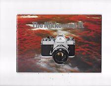 Vintage Nikkomat EL Camera Brochure Guide Catalog