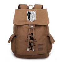 Anime Attack On Titan Backpack Shoulder Bag School Bags Outdoor Travel Cosplay