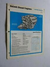 Prospetto Motore: Detroit Motori Diesel Marina Models Tipo 6v-53 216 HP