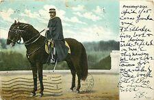 Udbk Mexico Postcard M347 President Diaz on Horseback Cancel 1905 Undivided Back