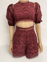 Zimmermann Womens Two Peice Set Shorts And Top Outfit Size 0 In Vgc