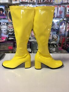60's / 70's GoGo Boots Yellow