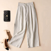 Women's Wide Leg Crop High Waist Palazzo Gaucho Pants Choice of 3 Colors