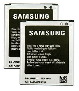 2 X Original Samsung Galaxy 1500 mAh Batteries EB-L1M7FLU for S3 Mini i8190