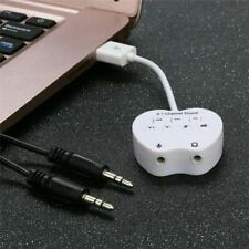 USB 8.1 Channel External 3D Audio Sound Card Adapter For PC Microphone Speaker