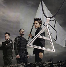 Vintage 30 Seconds To Mars Triad Silver Triangle JARED LETO Symbol Necklace HOT