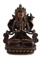 Chenresig Avalokitesvara Soprammobile Tibetano IN Resina Budda 11 CM Rosso 6046