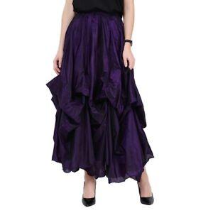 Dark Star Skirt Ruched Purple