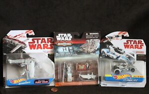 New! THREE Star Wars, Hotwheels & Micro Machines VEHICLES Collection