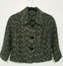 Women's INSIGHT Cropped Textured Jacket ~ Size 6