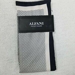 Alfani Men's Solid Twill Silk Pocket Square