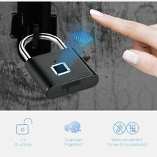Golden Security Keyless Usb Rechargeable Door Lock Fingerprint Smart Padlock Qui