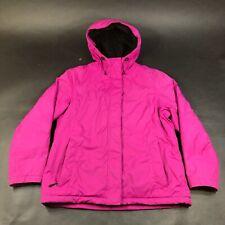 LL Bean Coat Jacket Shell Womens M Pink Nylon Raincoat Hooded Lined Recent