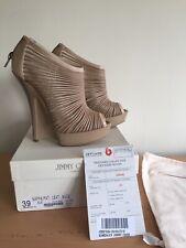 Jimmy Choo Beige Heels, Size 39, Uk 5 Wedges, Stunning!