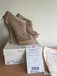 Jimmy Choo Beige Heels, Size 39, Uk 5 Wedges, Stunning!