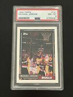 1992-93 Topps Michael Jordan #141 PSA 8 MINT Chicago Bulls FIRST TOPPS CARD