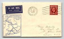 Gb 1934 Internal Airmail Services Ffc Glasgow to St John Wood - Z13789