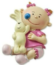 Taufe Geburt Mädchen Baby rosa Schnuller Häschen creme   basteln  dekorieren