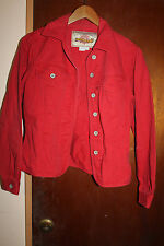 Territory Ahead Women's Red Jean Jacket Size Small