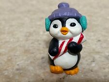 Hallmark 1993 Christmas Merry Miniature Penguin with Hat and Gold Sticker