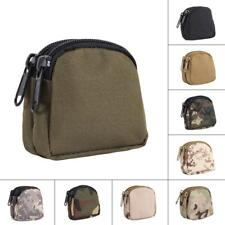 Outdoor Travel Micro Double Layer Zippered Bag Mini Sundries Case Coin Key Pouch