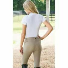 ROMFH Tan Knee Patch Horse Riding Equestrian Breeches Pants Size 18 Australia /