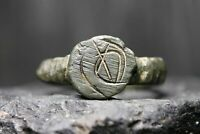 Ancient Viking Bronze Ring, 600-1100 AD, Authentic Artefact.