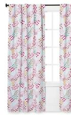"One Pillowfort Pink Fetching Florals Twill Light Blocking Curtain Panel 95""New"