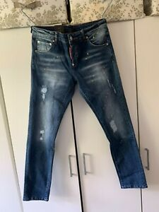 Dsquared2 Men's Jeans Slim Fit Jeans With Paint Splatter Distressed Jeans New