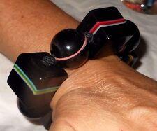 Sobral Retroz Ciclope Cyclops Black Striped Bracelet Brazil Import