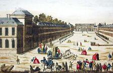 1750c PLAZA DE LA CARRIERE DE NANCY Grabado Iluminado
