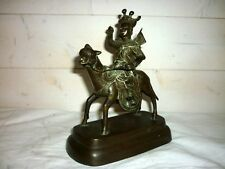 ancienne sculpture bronze Asie Toba Cavalier , Cheval , Chine Japon