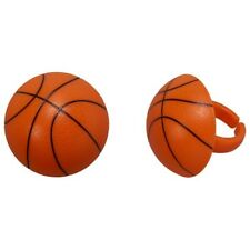 Basketball Cupcake Toppers Rings 12 pcs Party Favors NBA