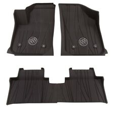 2017-2020 Buick Envision Front and Rear Floor Liners in Ebony Buick Logo Gm (Fits: Buick)