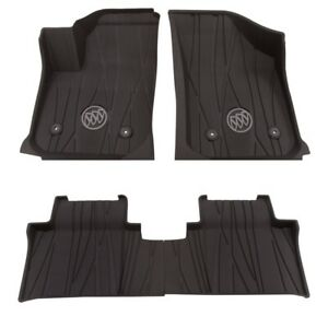 2017-2020 Buick Envision Front and Rear Floor Liners in Ebony Buick Logo GM