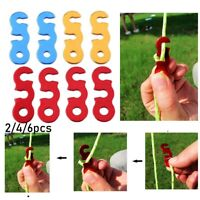 Zer one Wind Rope Cord 10pcs Quick Release Shelter Tent Anti-Slip Wind Rope Buckle Camp Rope Adjuster Stopper for Camping Hiking Backpacking Outdoor Activity Tent Accessory