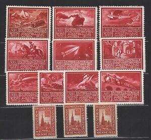 13 Vignetten zur WIPA 1933