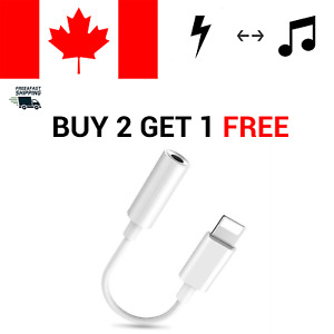 For iPhone 7 8 X XR 11 8 Pin iOS To 3.5mm Jack Earphone Headphone Aux Adapter