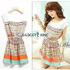 Chiffon Striped Dresses for Women
