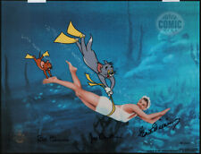 """TOM & JERRY Cel """"DANGEROUS WHEN WET"""" Signed by ESTER WILLIAMS, HANNA & BARBERA"""
