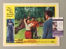 AVA GARDNER HAND SIGNED JSA ORIGINAL 11X14 BAREFOOT CONTESSA LOBBY CARD AUTOGRAP