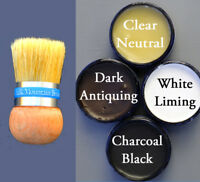 Chalk Paint Wax & Palm Brush Choose from 4 colors in 6 oz all natural wax