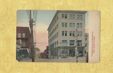 MA New Bedford 1912 Antique postcard TIMES BUILDING & MIDDLE ST MASS