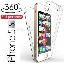 FUNDA 360º DOBLE DELANTERA Y TRASERA TRANSPARENTE PARA iPHONE 5 5S SE