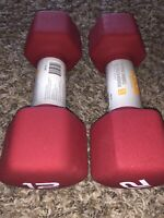 NEW CAP Neoprene Hex Dumbbell Set Pair of Two 12 lb Pound Weights (24lbs Total)