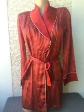 MARJOLAINE DESHABILLE rouge taille 40 100% SOIE red ROBE size M