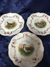 3 Gorgeous PM Bavaria Game Birds Cabinet Plates