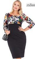 Women's Empire Line Midi Dress Plus Size  16 18 20 22 24 26