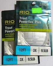 Rio Vorfächer Powerflex Plus 2er-Packg. - 2er-Set 12' / 3,60 m - 3X / 0,21 mm