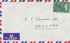 DC11) Solomon Islands 1966 Airmail cover to Honiara
